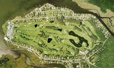 Aerial shot of the course